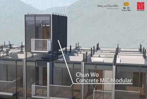 "Digital Simulation Video of the Building Process Using ""Wall Connection Technology"" and the Simulated Completion of a Residential Building Using Concrete ""Modular Integrated Construction"" Systems"